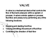 Valves and Types of Valces