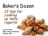 Baker's Dozen: 13 Tips for Better R...