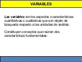 Variables Introducción