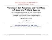 Varieties of Self-Awareness and The...