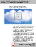 CPU performance comparison of two cloud solutions: VMware vCloud Hybrid Service and Microsoft Azure