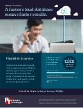 Database performance comparison of VMware vCloud Air, Amazon Web Services, and Microsoft Azure - Infographic