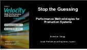 Stop the Guessing: Performance Methodologies for Production Systems