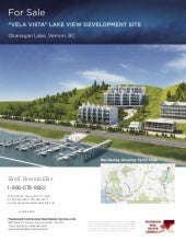 Vela Vista  Okanagan Development Land Opportunity