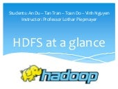 Hadoop at a glance