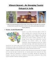 Resarch Report - Vibrant Gujarat: A...