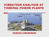 Vibration analysis at thermal power...