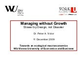 "Peter Victor ""Managing withouth Gro..."