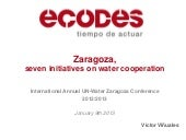 Zaragoza, 7 initiatives on water co...