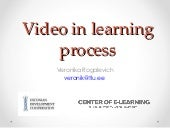 Video in learning process