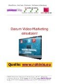 Darum Video-Marketing einsetzen!