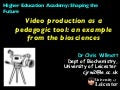 Video production pedagogy