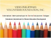 VIDES Philippines Volunteers Founda...