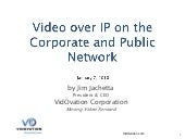 Video over IP on the Corporate and ...