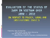 IWRM Evaluation Result_Vietnam