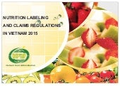 Vietnam Nutrition and Labelling Claims_2015