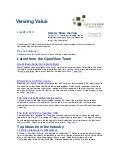 Viewing Value eNewsletter July 28, 2010