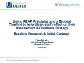 Assessment & Feedback Reflective Tool