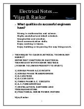 Vijay Balu Raskar E.T. Notes