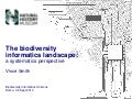 The biodiversity informatics landscape: a systematics perspective