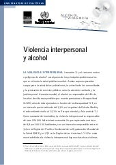 Violencia interpersonal y alcohol