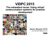 The networked nurse: Using virtual communication systems for practice development