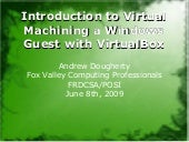VirtualBox Ubuntu Host Windows Guest