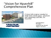Vision for Haverhill Comprehensive Plan Concept & Framework