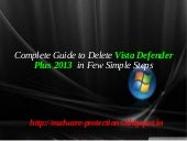 Uninstall Vista defender plus 2013:...