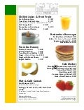 Vistas Breakfast Menu