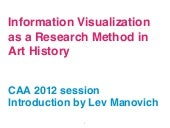"Intro to CAA 2012 session ""Visualiz..."