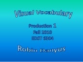 Visual vocabualry