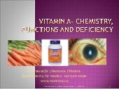 Vitamin A chemistry, functions and deficiency