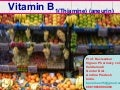 VITAMIN B1 [THIAMINE] MEDICINAL CHEMISTRY BY P. RAVISANKAR [ SOURCE, STRUCTURES  AND CHEMISTRY OF VITAMIN B1, HYSTORY OF VITAMIN B1, SOURCES OF VITAMIN B1, RDA, PHYSIOLOGICAL IMPORTANCE(ROLE) OF VITAMIN B1, SYNTHESIS OF VITAMIN B1, OXIDATION OF THIAMINE T