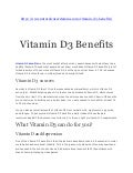 Vitamin d3 and its advantages