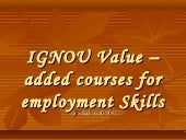 IGNOU value addition courses for Em...
