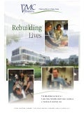 Rebuilding Lives: the Rehabilitation Center at Santa Clara Valley Medical Center continues a tradition of excellent care
