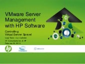 Control Virtual Server Sprawl with HP Software