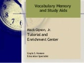 Vocabulary Memory Study Aids