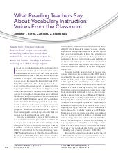 Vocabulary+article