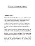 Voice morphing document