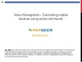 Voice / Speech Recognition: Patent ...