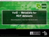 VoID: Metadata for RDF Datasets