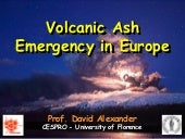 Volcanic ash and aviation emergencies