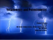Basics of Voltammetry and Potentiom...