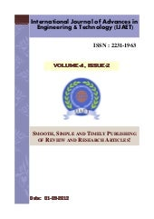 IJAET Volume 4 issue 2