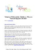 Volunteer with autistic children   why are natural supports needed