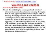 Vouching and voucher