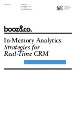 In-Memory Analytics: Strategies for...