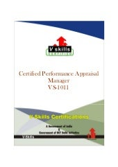 Performance Appraisal Manager Certi...